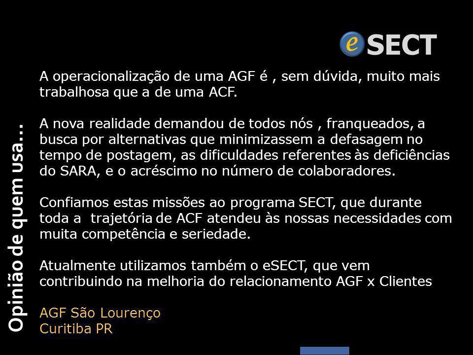 A operacionalização de uma AGF é , sem dúvida, muito mais trabalhosa que a de uma ACF.