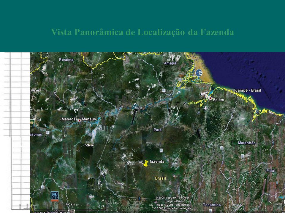 Vista Panorâmica de Localização da Fazenda