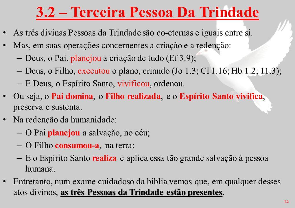 3.2 – Terceira Pessoa Da Trindade