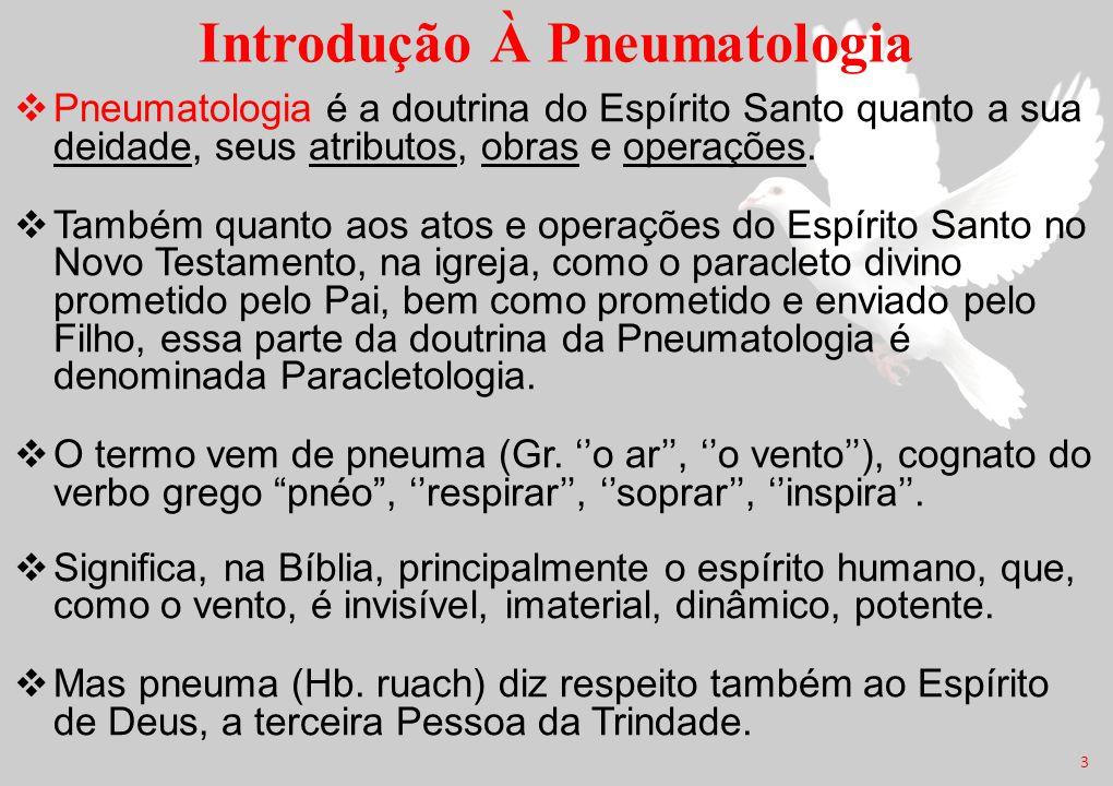 Introdução À Pneumatologia