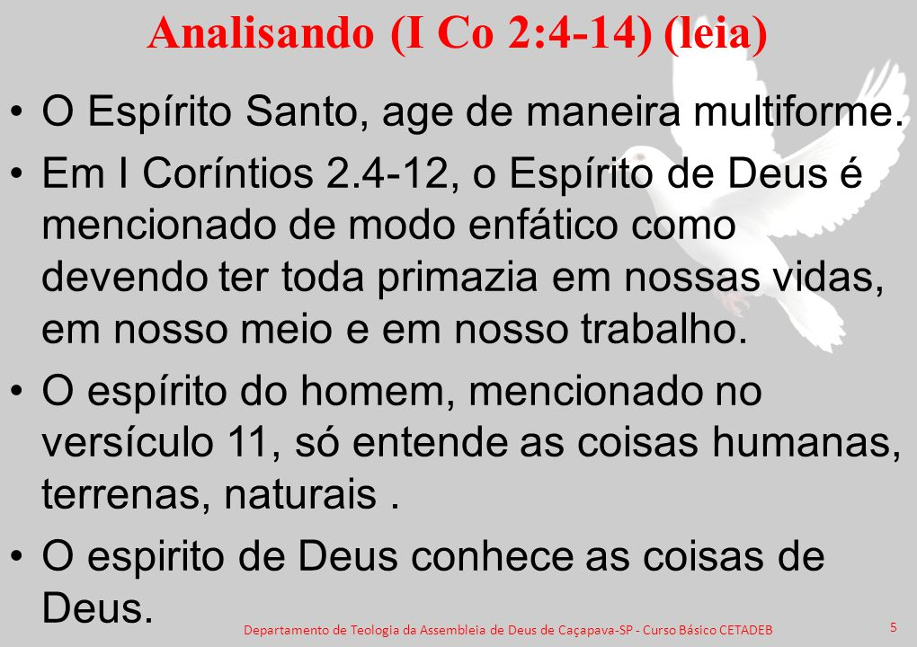 Analisando (I Co 2:4-14) (leia)