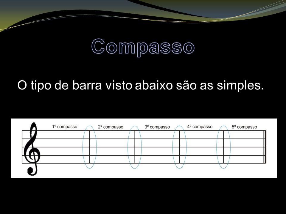 Compasso O tipo de barra visto abaixo são as simples.