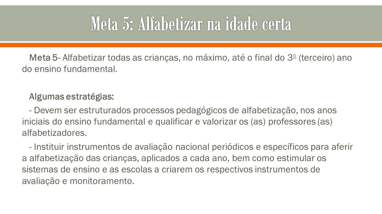 Meta 5: Alfabetizar na idade certa
