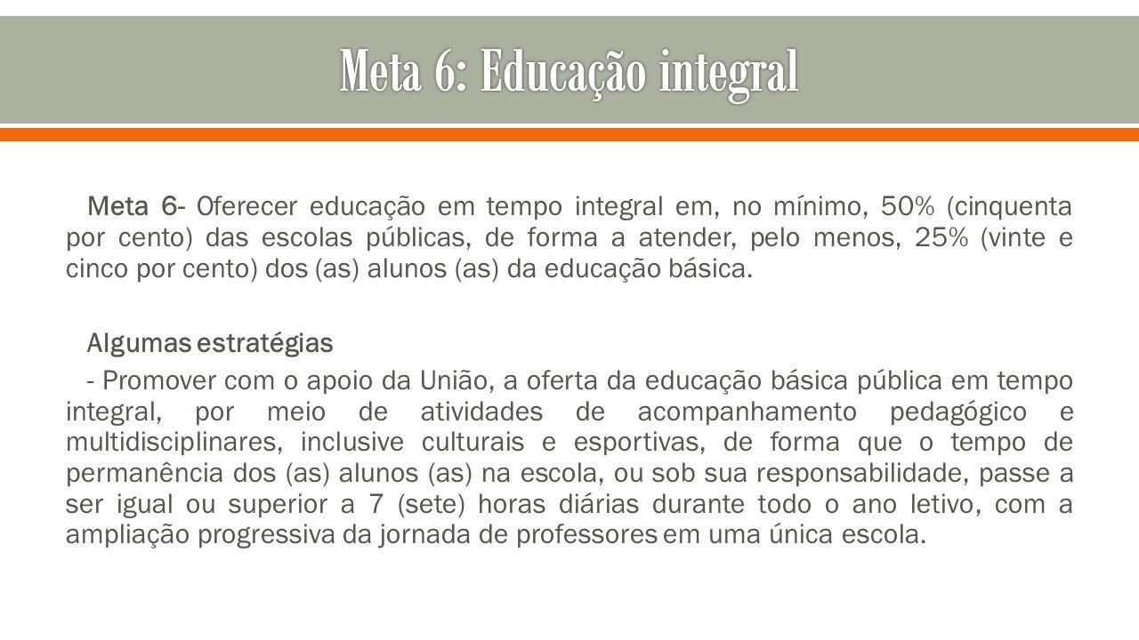 Meta 6: Educação integral