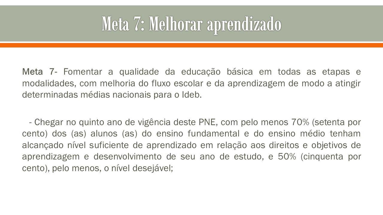 Meta 7: Melhorar aprendizado