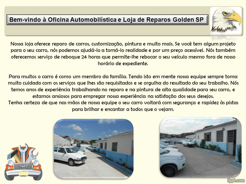 Bem-vindo à Oficina Automobilística e Loja de Reparos Golden SP