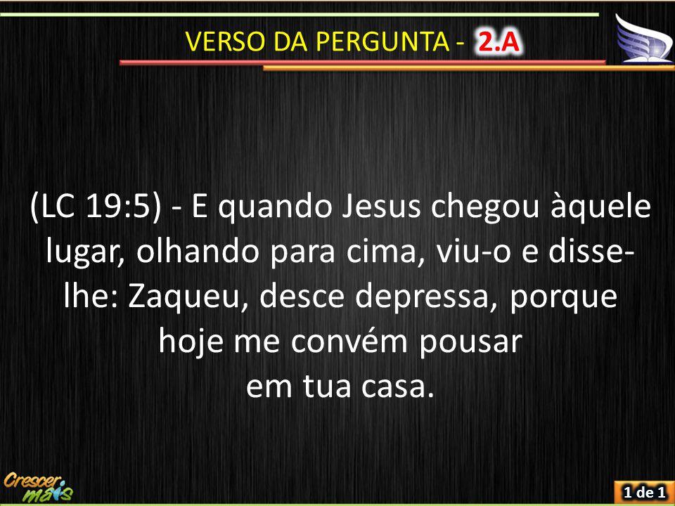 VERSO DA PERGUNTA - 2.A