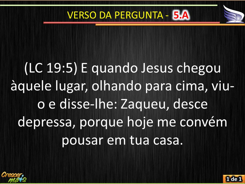 VERSO DA PERGUNTA - 5.A
