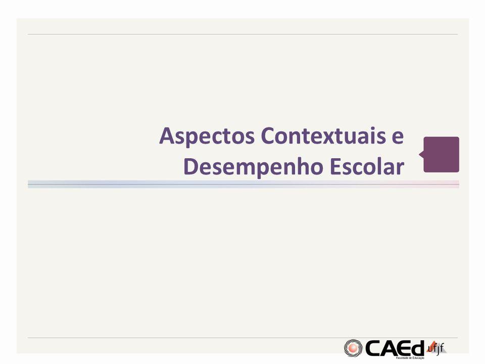Aspectos Contextuais e Desempenho Escolar