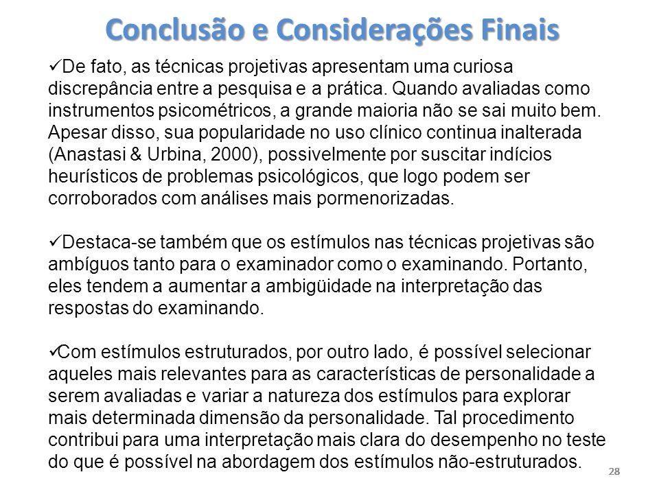 Conclusão e Considerações Finais