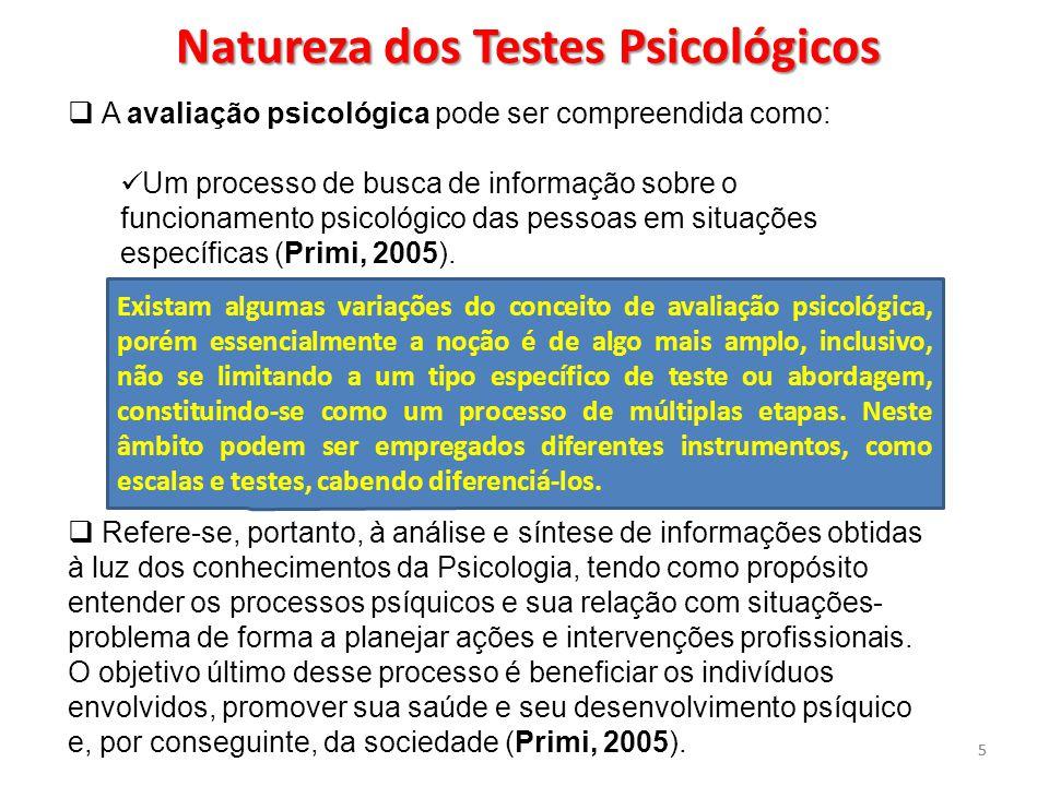 Natureza dos Testes Psicológicos