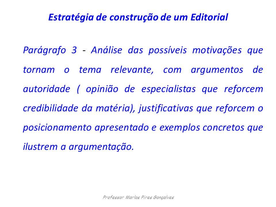 Estratégia de construção de um Editorial