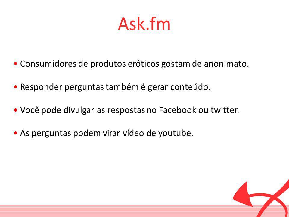 Ask.fm • Consumidores de produtos eróticos gostam de anonimato.