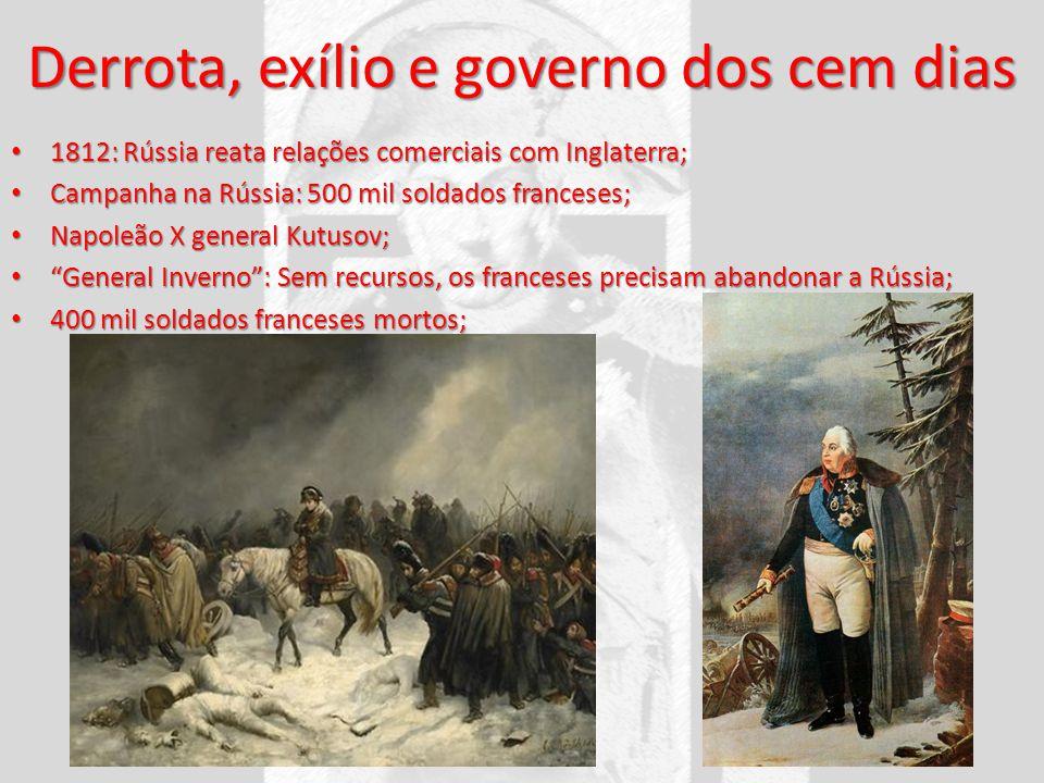 Derrota, exílio e governo dos cem dias