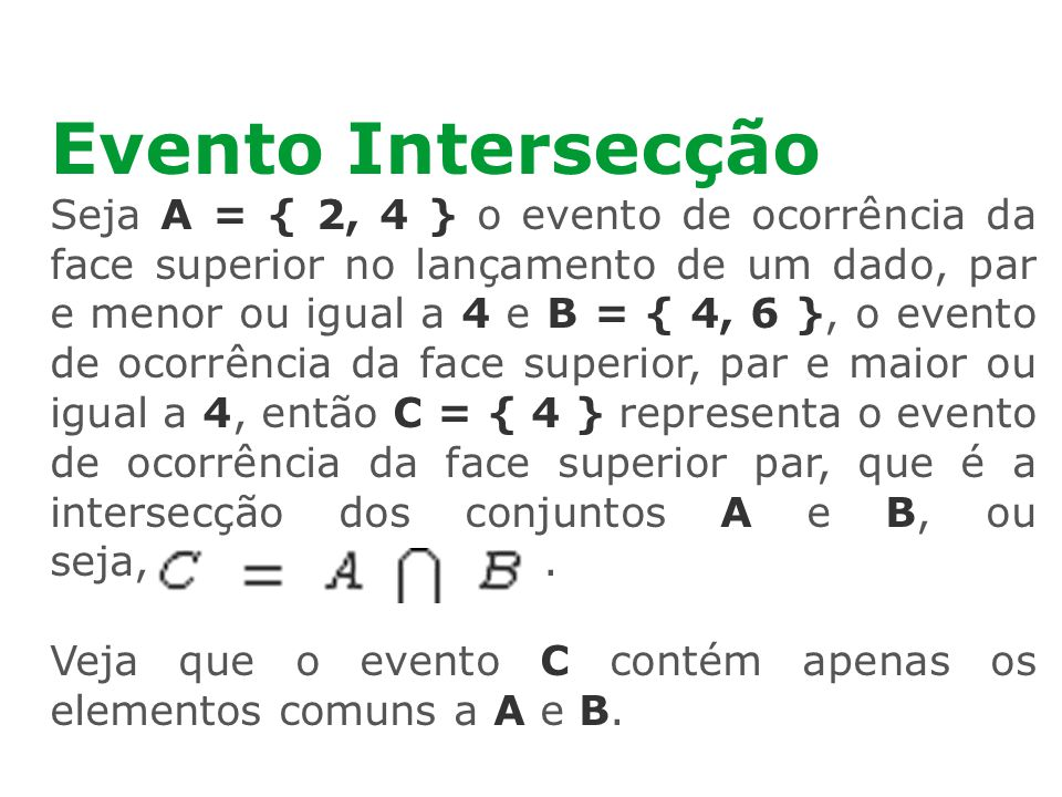 Evento Intersecção
