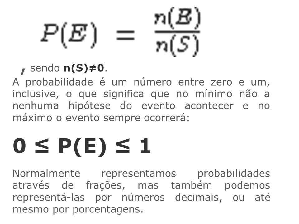 , sendo n(S)≠0.