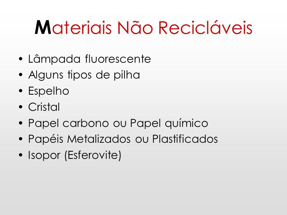 Materiais Não Recicláveis