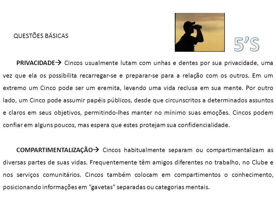 QUESTÕES BÁSICAS 5'S.