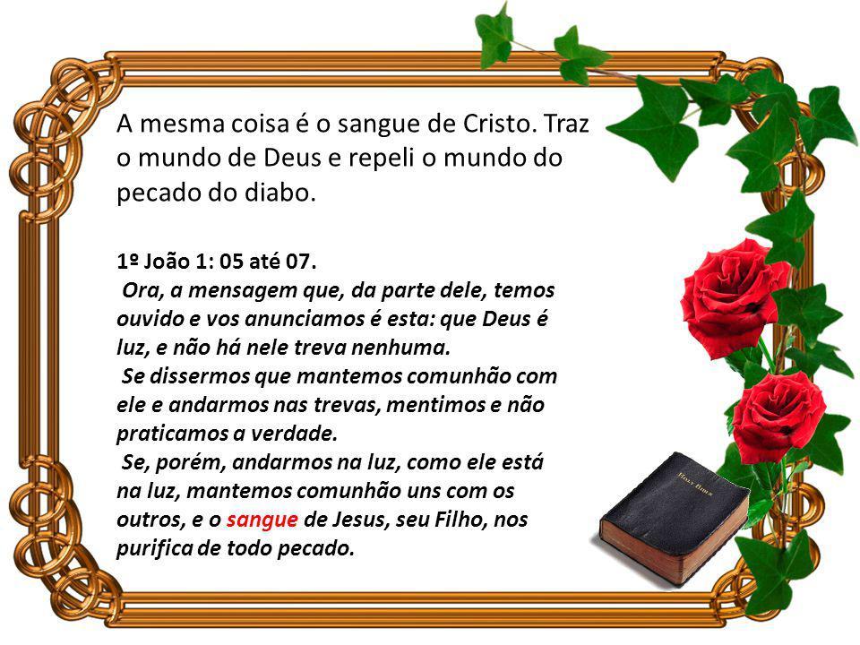 A mesma coisa é o sangue de Cristo