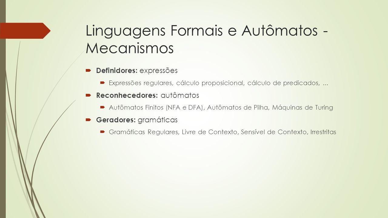Linguagens Formais e Autômatos - Mecanismos