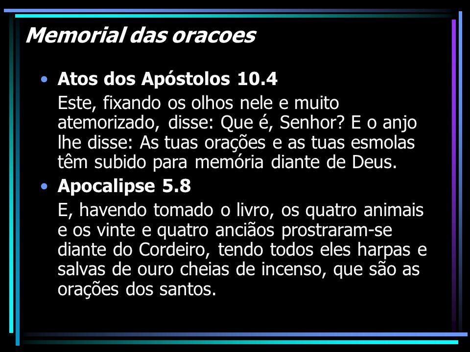 Memorial das oracoes Atos dos Apóstolos 10.4