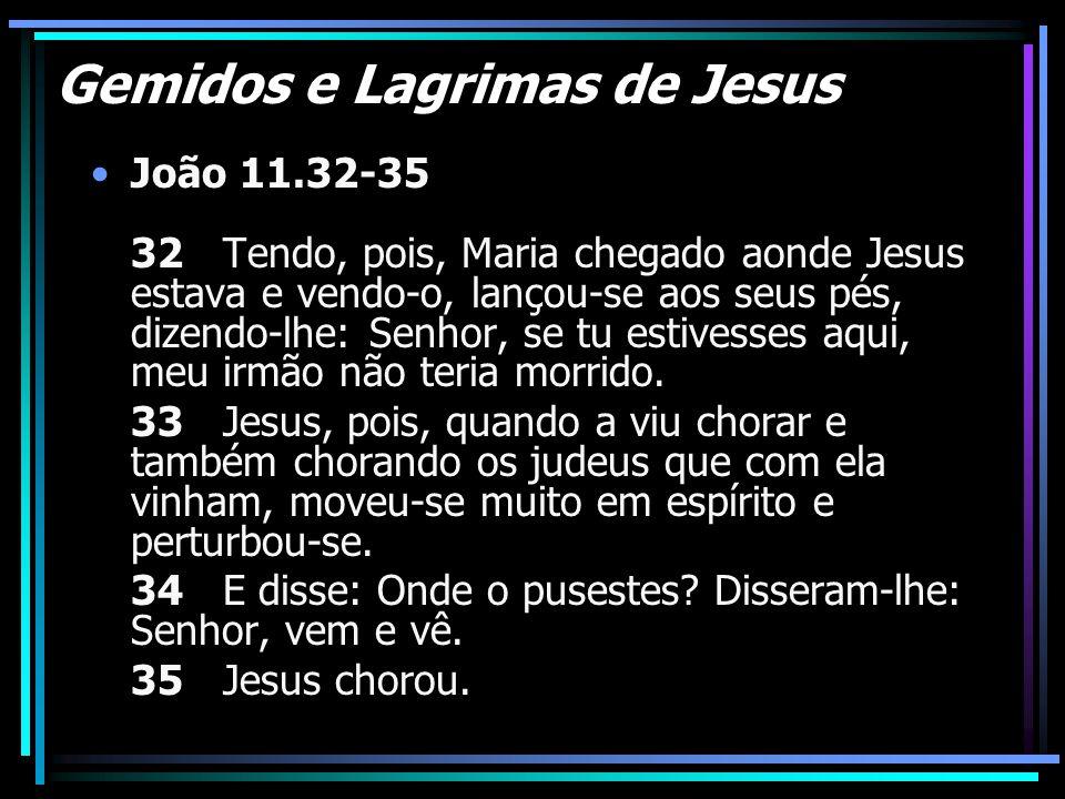 Gemidos e Lagrimas de Jesus