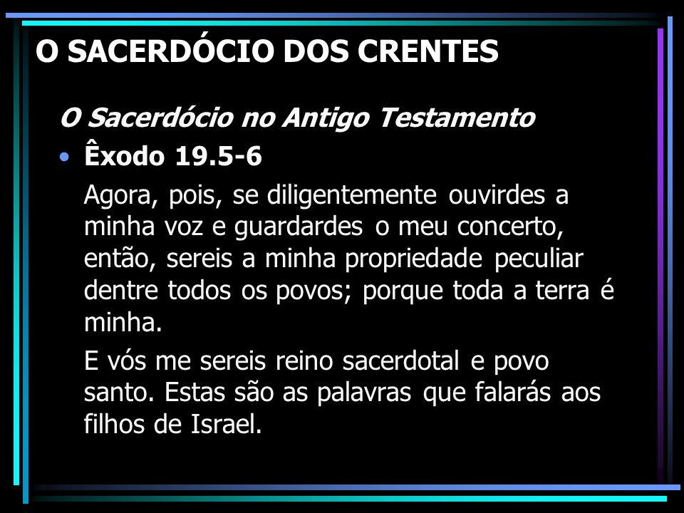 O SACERDÓCIO DOS CRENTES