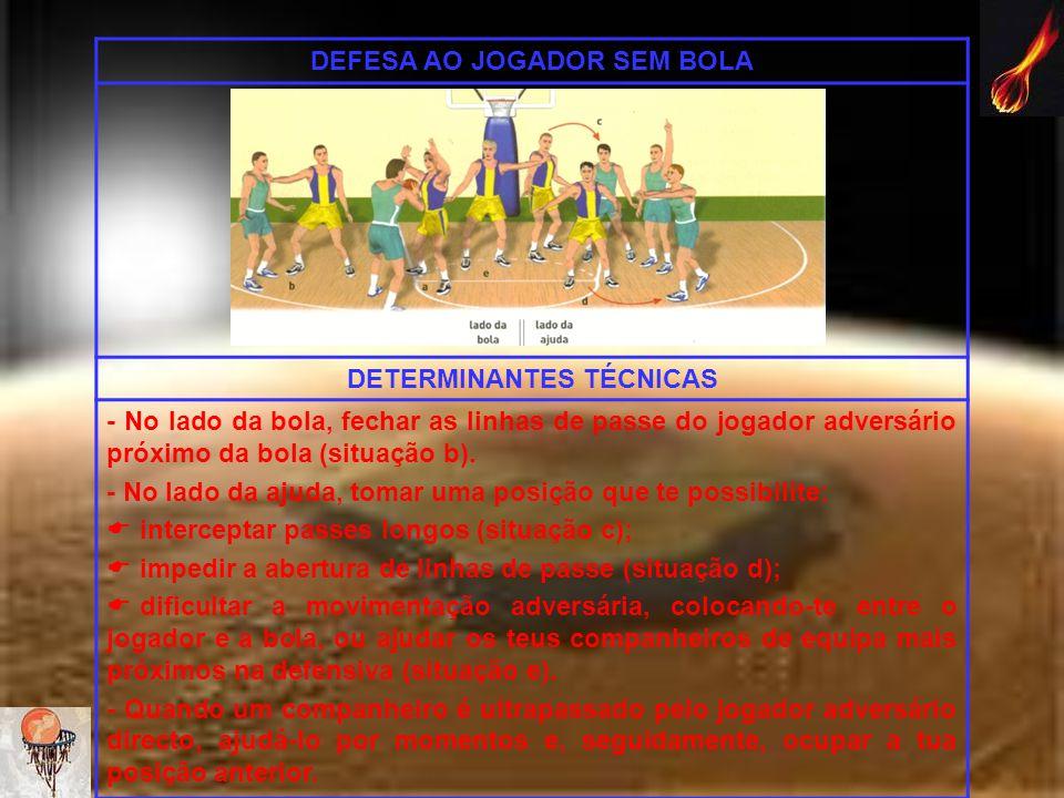 DEFESA AO JOGADOR SEM BOLA DETERMINANTES TÉCNICAS