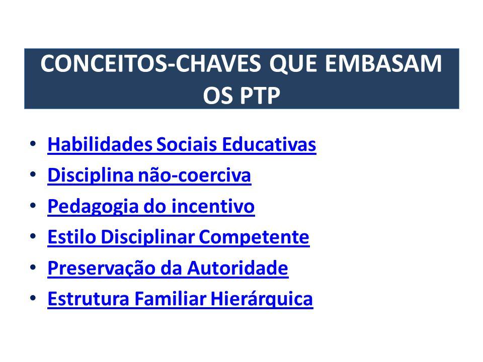 CONCEITOS-CHAVES QUE EMBASAM OS PTP