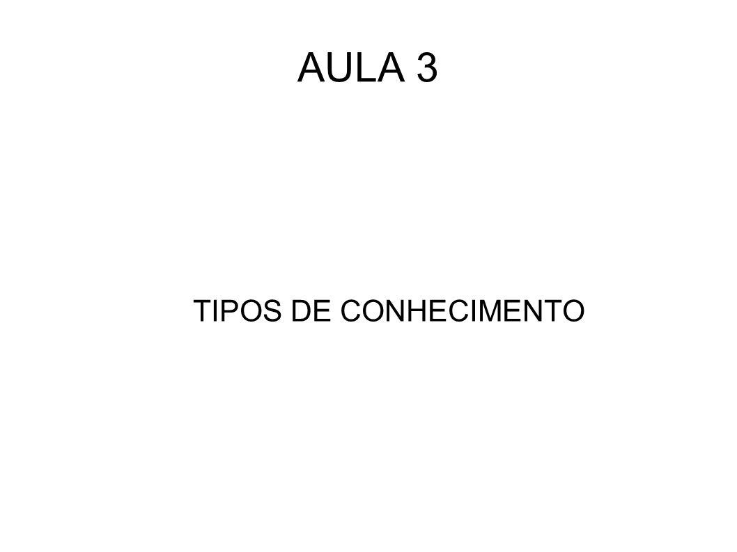 AULA 3 TIPOS DE CONHECIMENTO