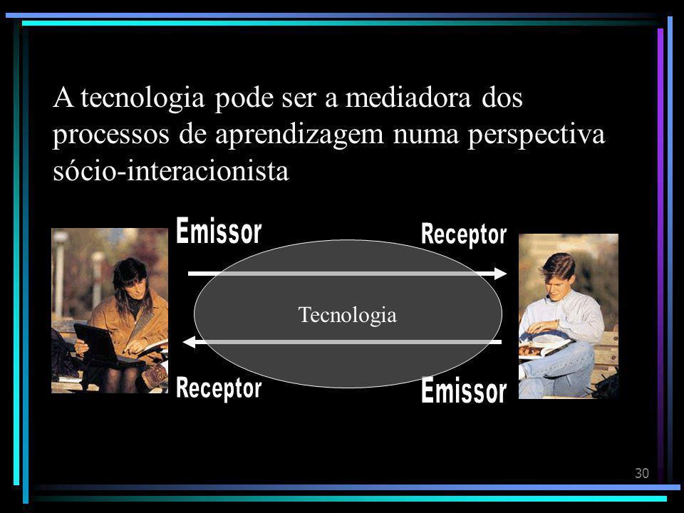 A tecnologia pode ser a mediadora dos processos de aprendizagem numa perspectiva sócio-interacionista