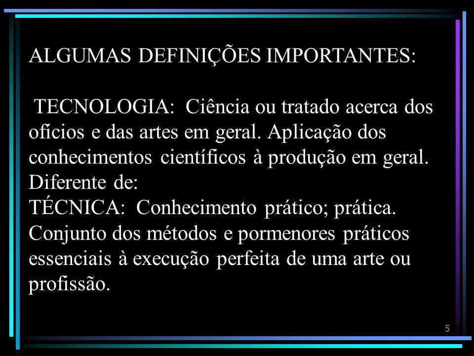 ALGUMAS DEFINIÇÕES IMPORTANTES: