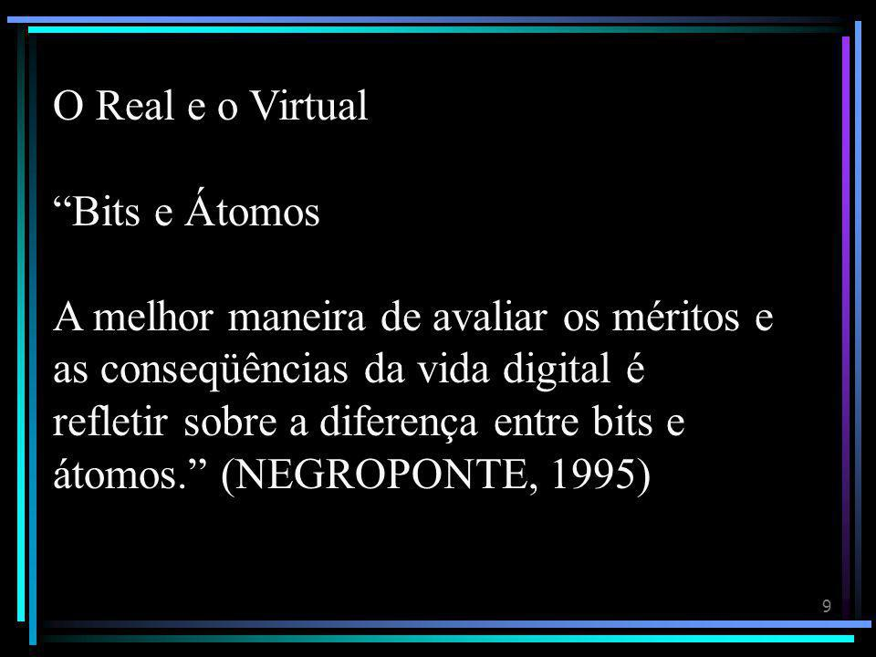 O Real e o Virtual Bits e Átomos.