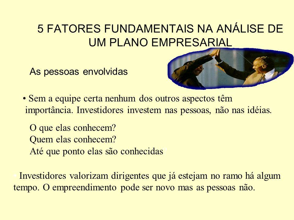 5 FATORES FUNDAMENTAIS NA ANÁLISE DE UM PLANO EMPRESARIAL