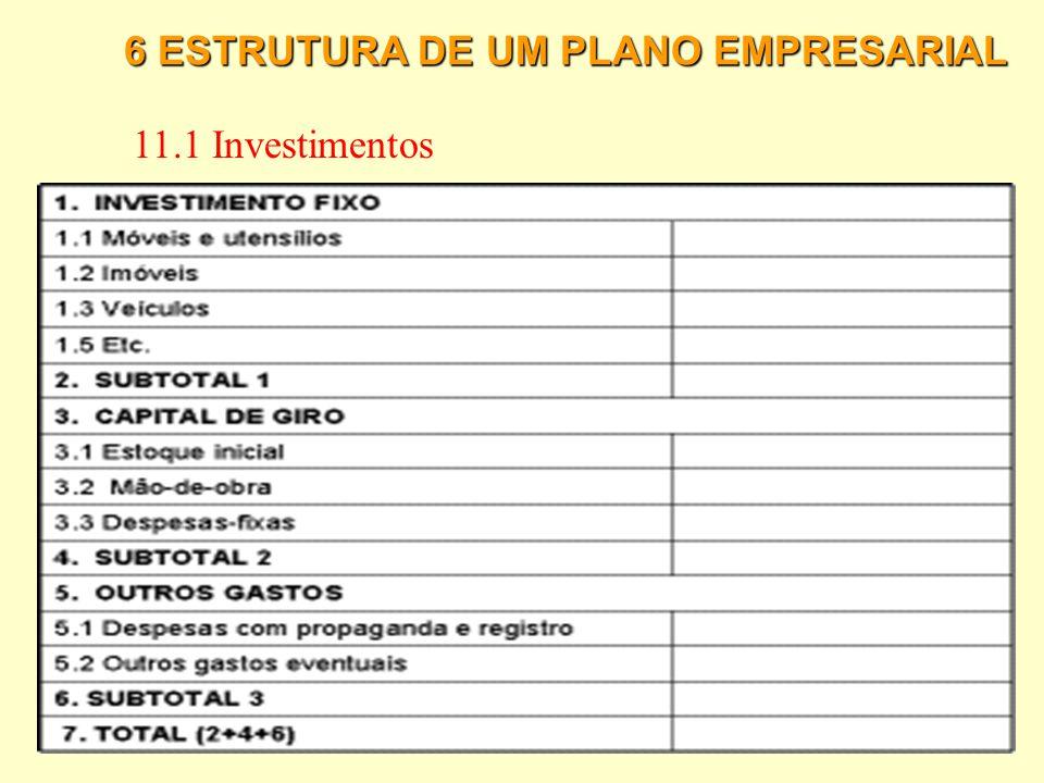 6 ESTRUTURA DE UM PLANO EMPRESARIAL