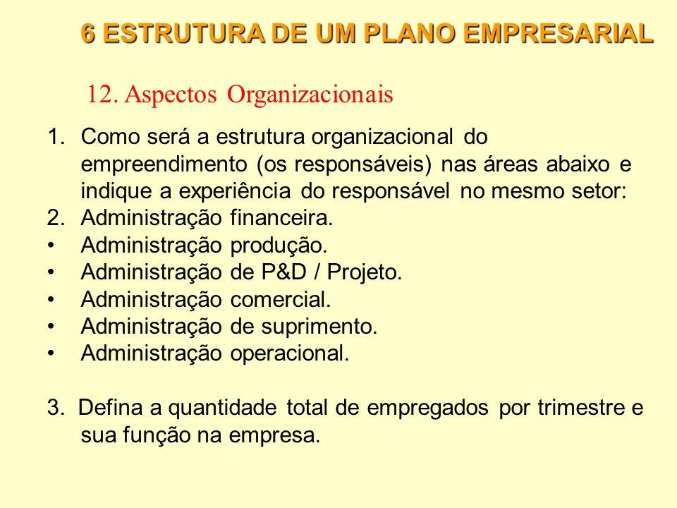 12. Aspectos Organizacionais
