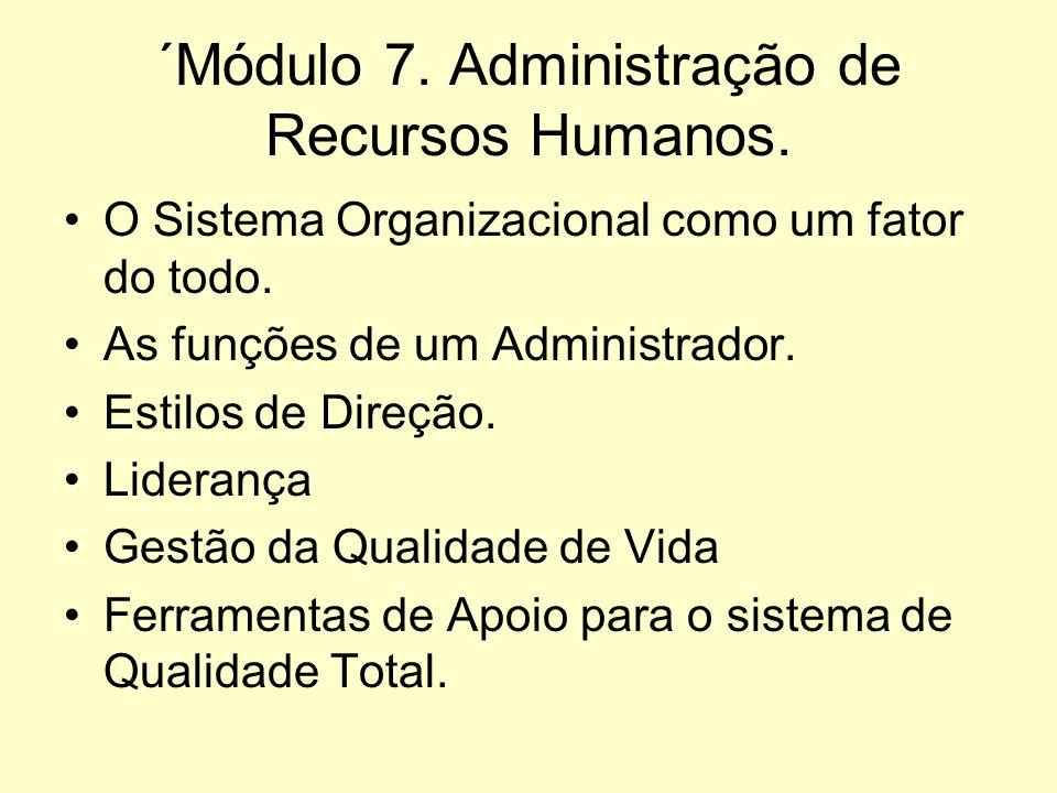 ´Módulo 7. Administração de Recursos Humanos.