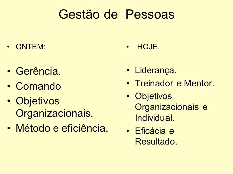 Gestão de Pessoas Gerência. Comando Objetivos Organizacionais.