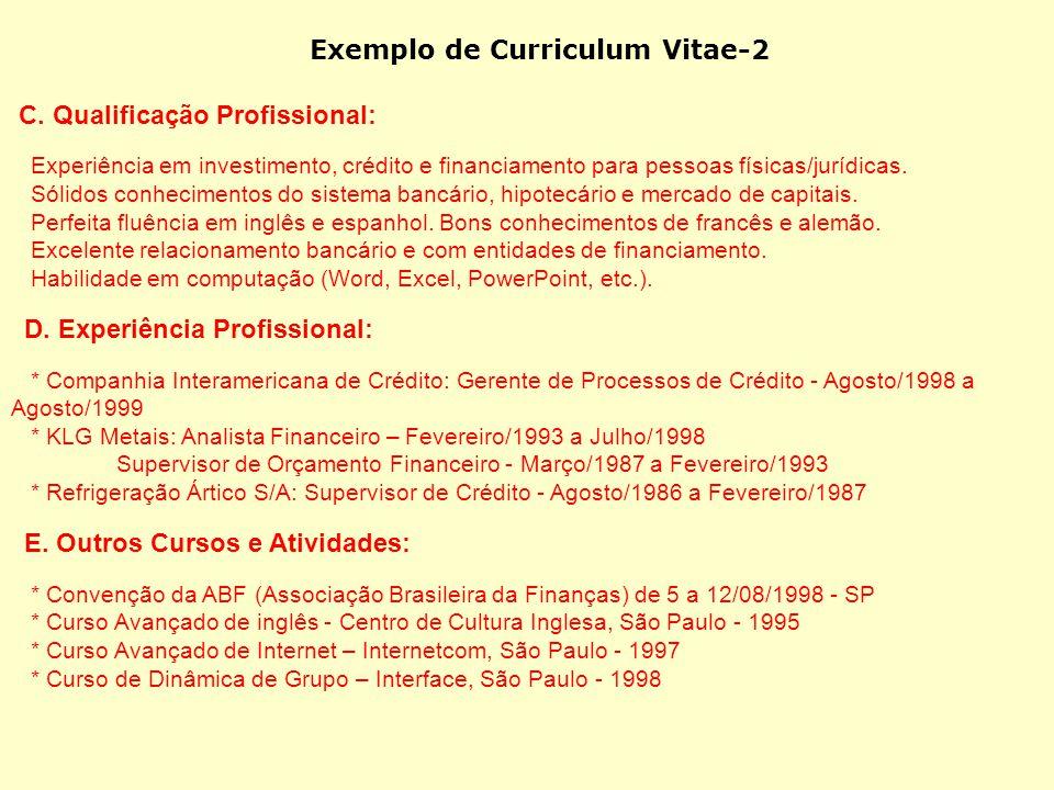 Exemplo de Curriculum Vitae-2