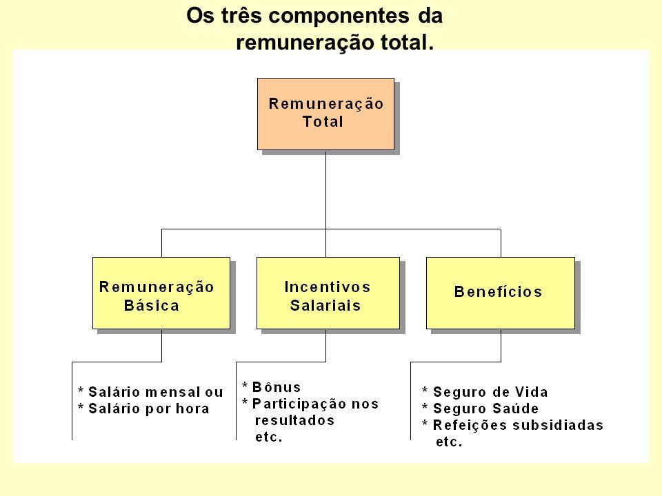 Os três componentes da remuneração total.