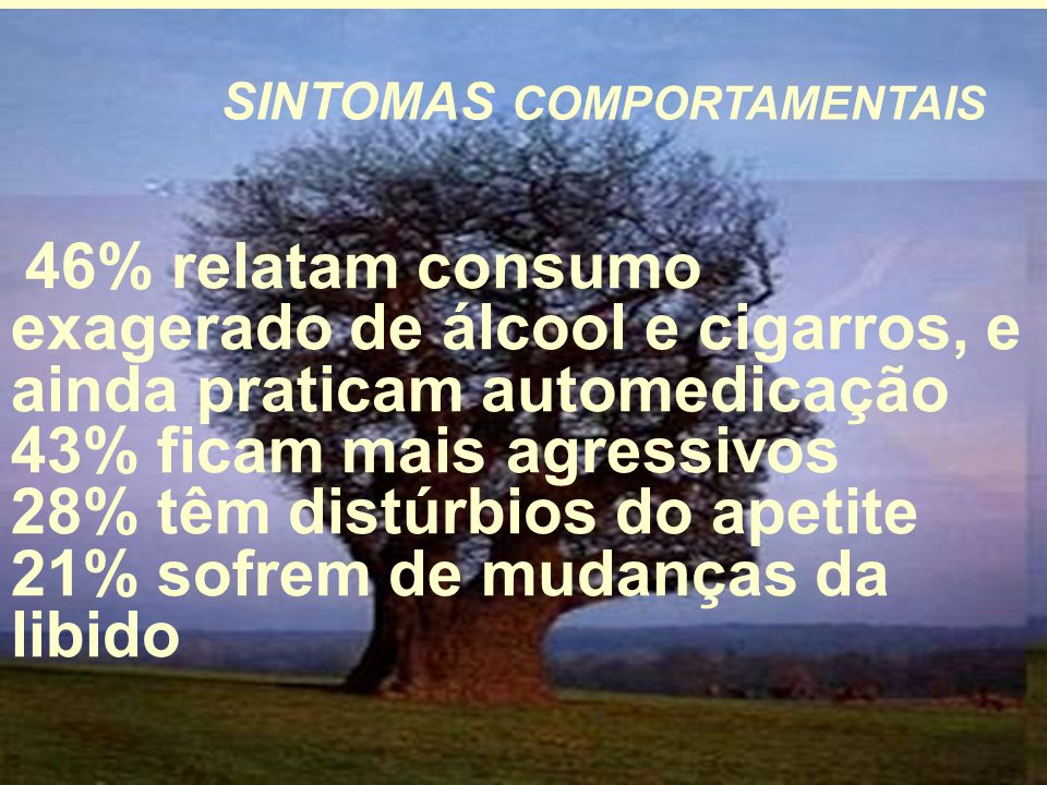 SINTOMAS COMPORTAMENTAIS