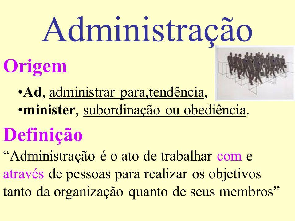 Administração Origem Definição Ad, administrar para,tendência,