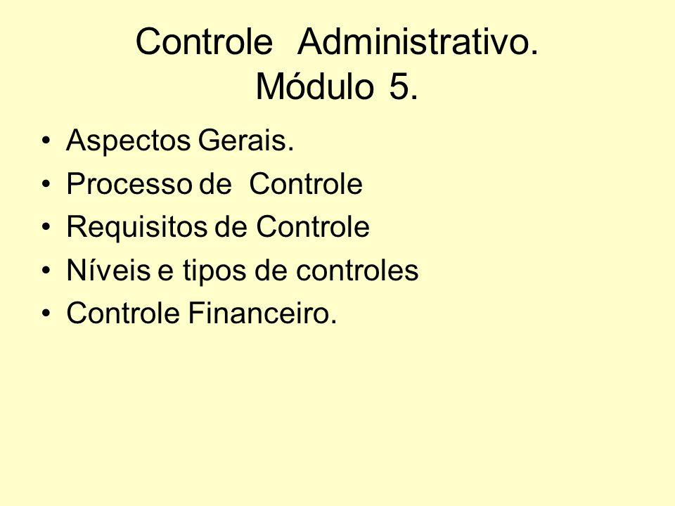 Controle Administrativo. Módulo 5.