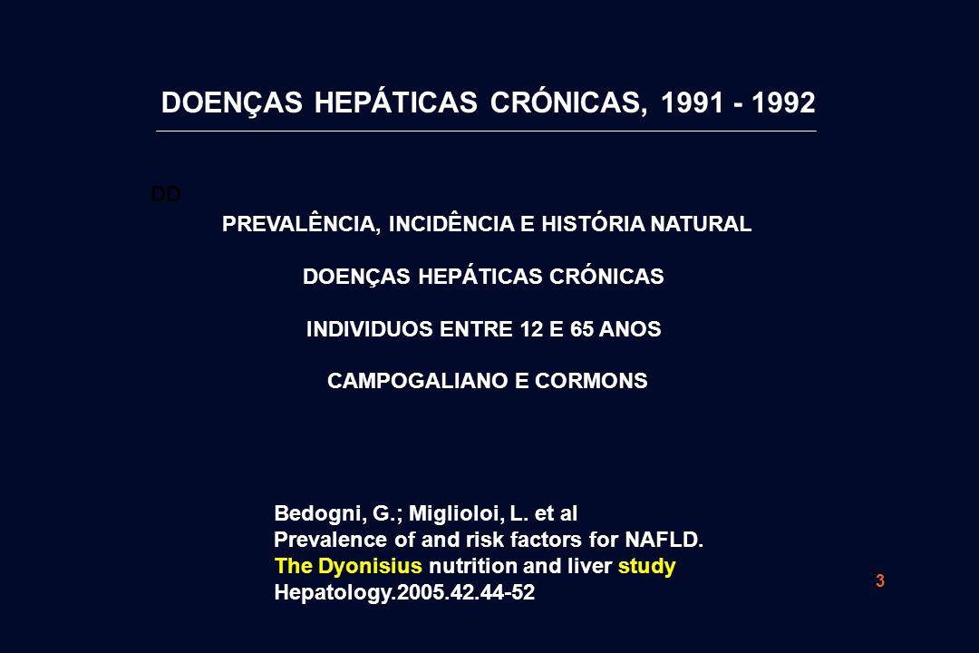 DOENÇAS HEPÁTICAS CRÓNICAS, 1991 - 1992