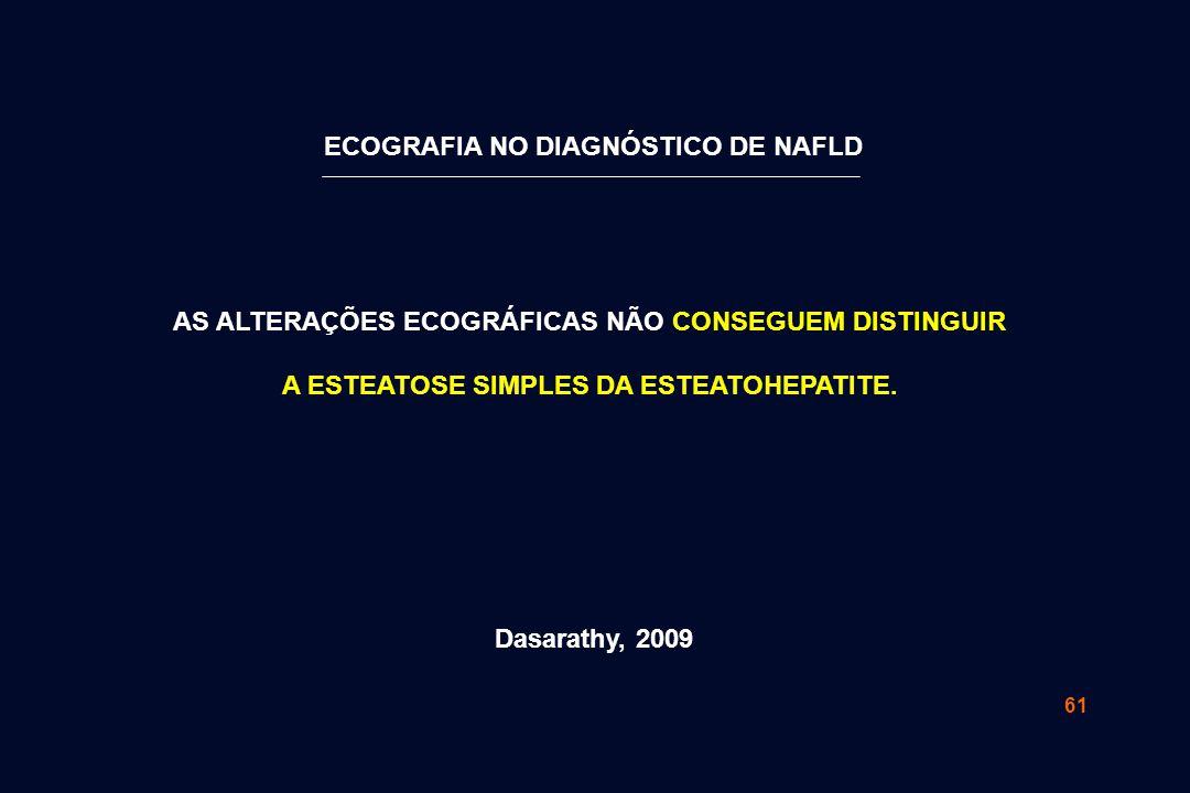 ECOGRAFIA NO DIAGNÓSTICO DE NAFLD