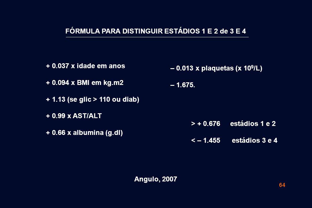 FÓRMULA PARA DISTINGUIR ESTÁDIOS 1 E 2 de 3 E 4