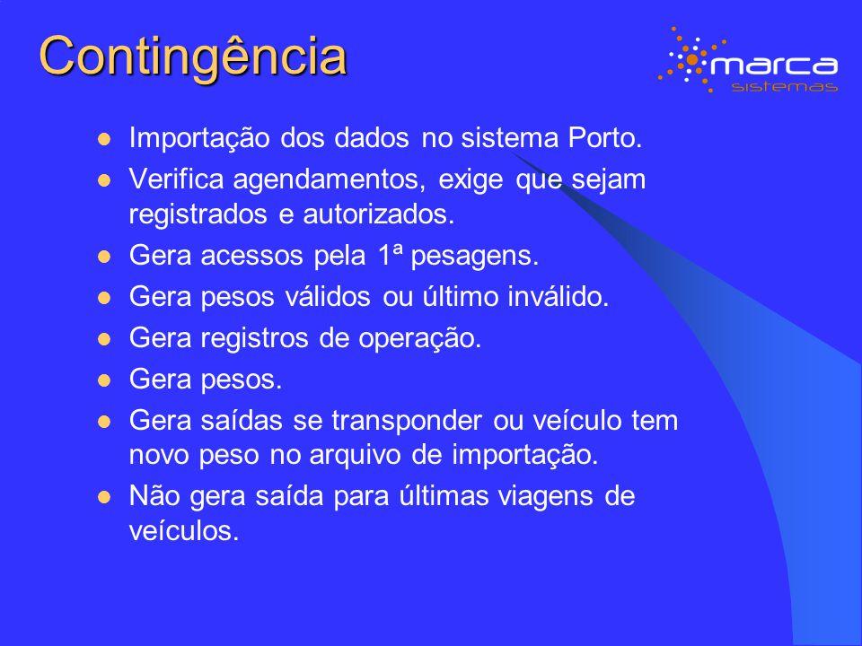 Contingência Importação dos dados no sistema Porto.