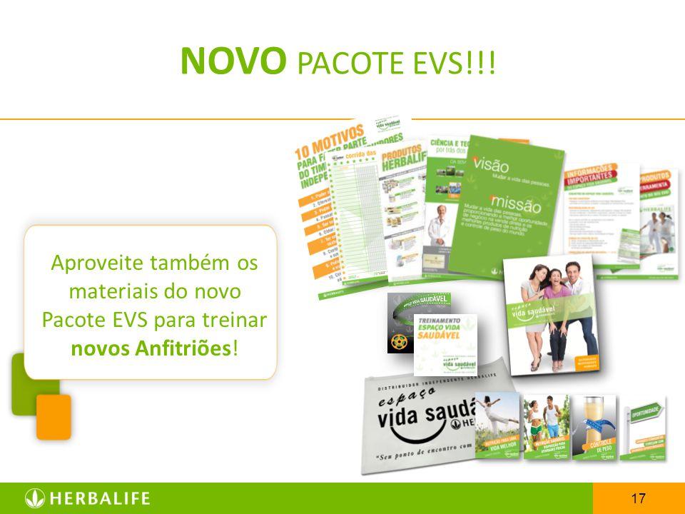 NOVO PACOTE EVS!!! Aproveite também os materiais do novo Pacote EVS para treinar novos Anfitriões!