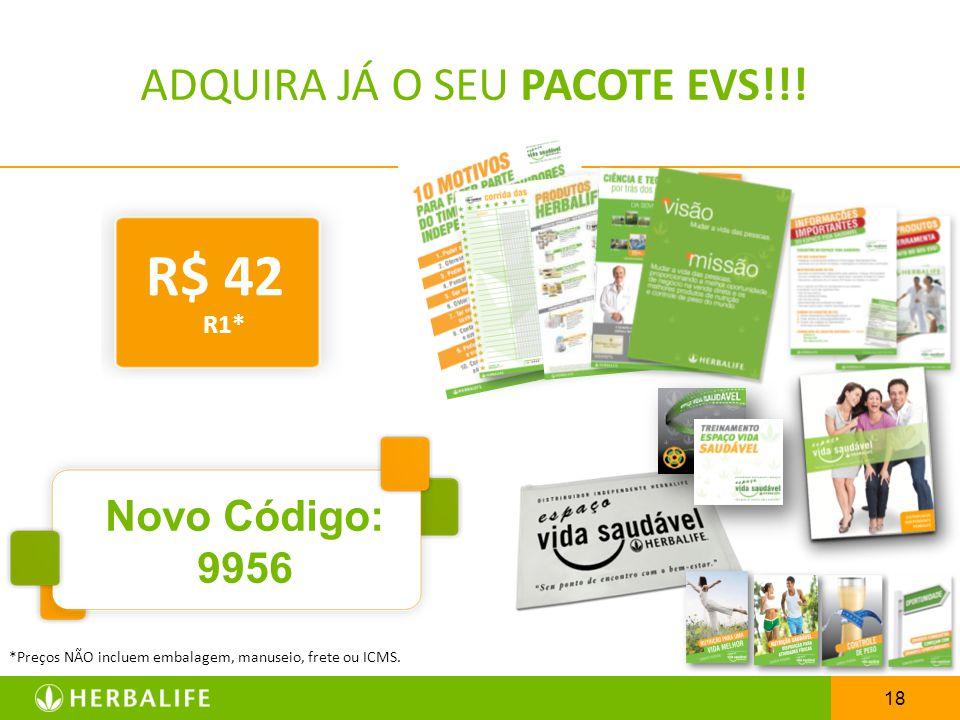 ADQUIRA JÁ O SEU PACOTE EVS!!!