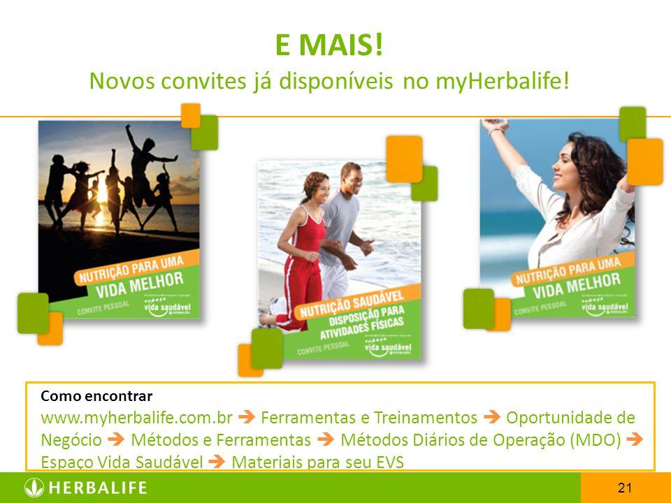 Novos convites já disponíveis no myHerbalife!